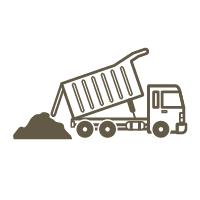 PLANIFIER LA LOGISTIQUE des terres en fonction de vos besoins et de la livraison des matériaux.